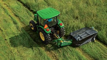 John Deere 6 Series Tractor with Mower
