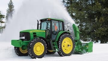 John Deere Tractor with Frontier Snow Blower
