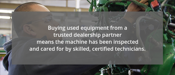 Quote about Buying Used Equipment