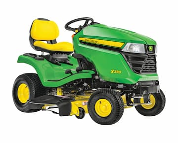 John Deere X590 4-wheel steer riding lawn mower