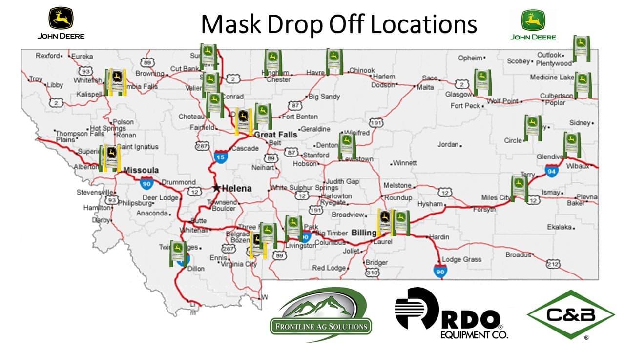 montana mask drop points